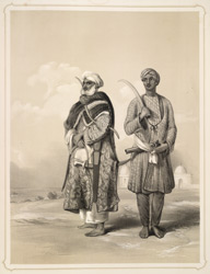 A Zemindar or farmer of the upper provinces and a Puthan, a famous wrestler